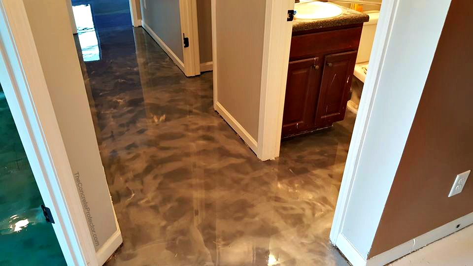 Metallic Marble Epoxy Concrete | Santa Maria, California