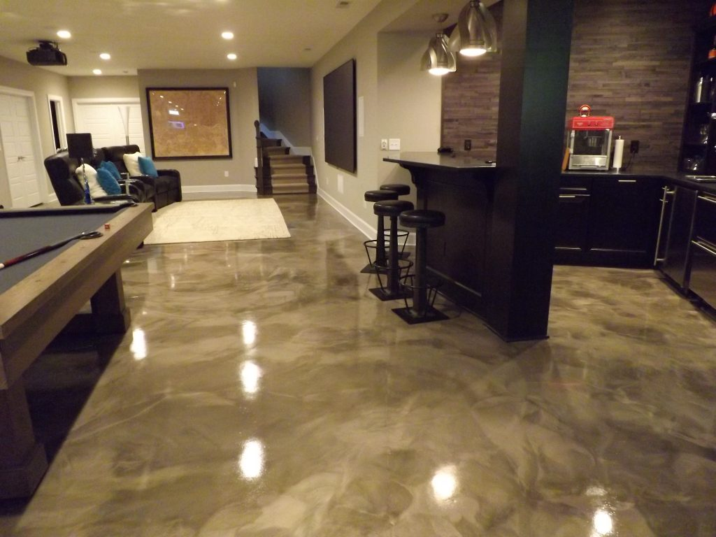 Metallic Marble Epoxy Concrete | Creston, California